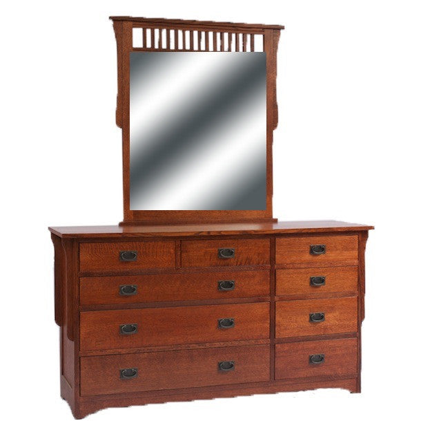 Mission Dresser with Landscape Mirror