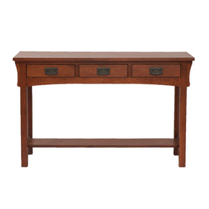 Mission 3 Drawer Writing Desk