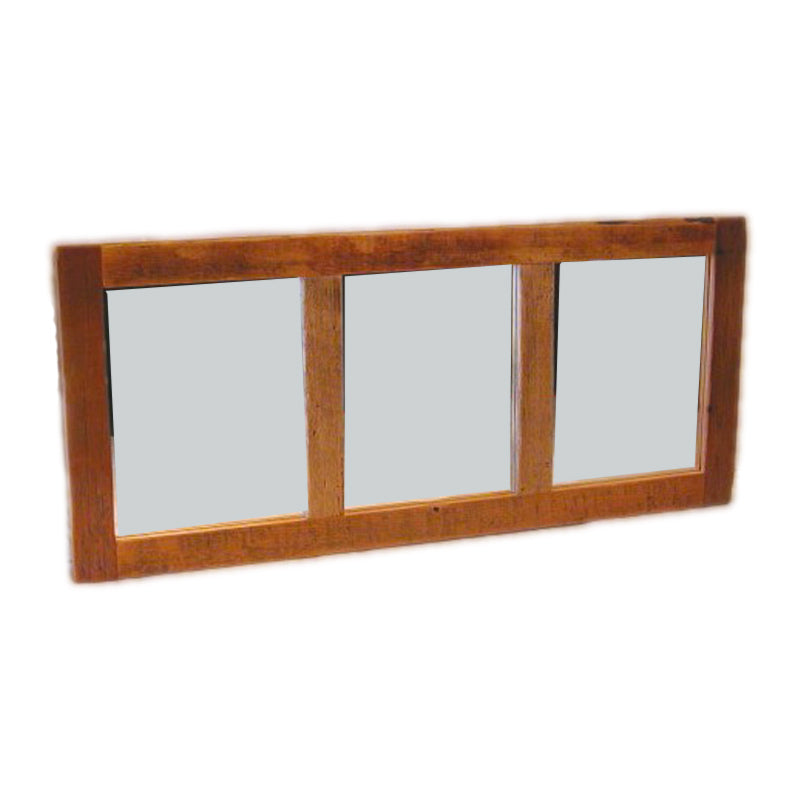 Barn Board 3 Panel Mirror