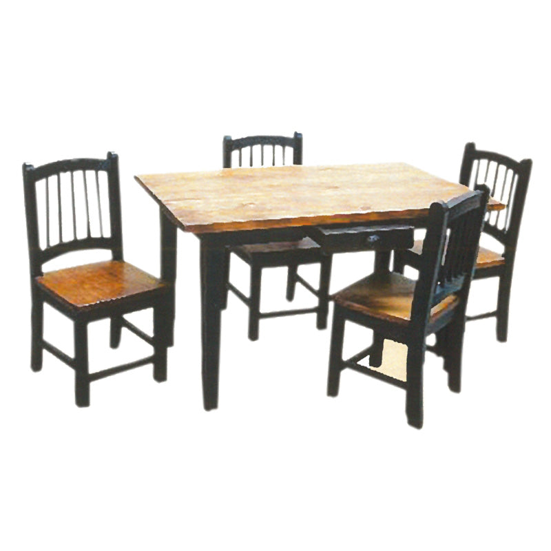 Rustic Kids Table & 4 Chairs