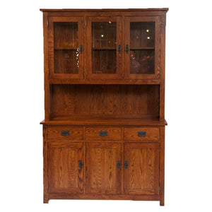 Shaker 3 Door with Pie Shelf Hutch and Buffet