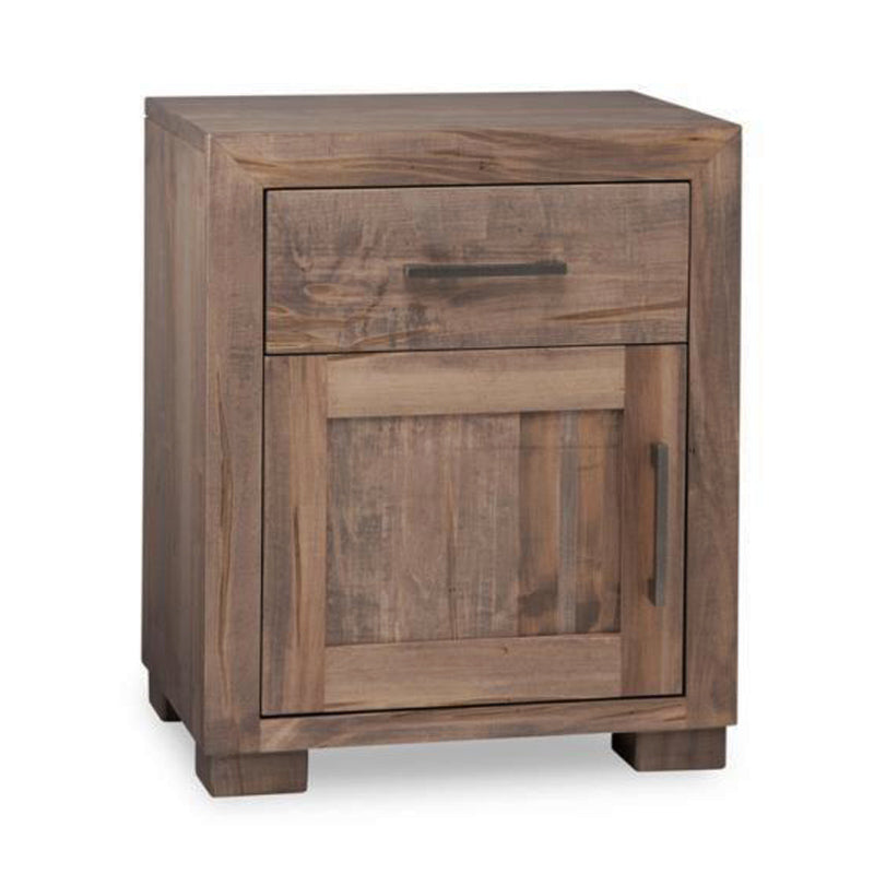 Steel City Nightstand with Door and Drawer