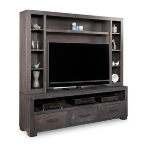 Steel City HDTV Stand with Hutch