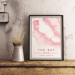 Custom Map Art. Fine Style. Personalised Map Print.