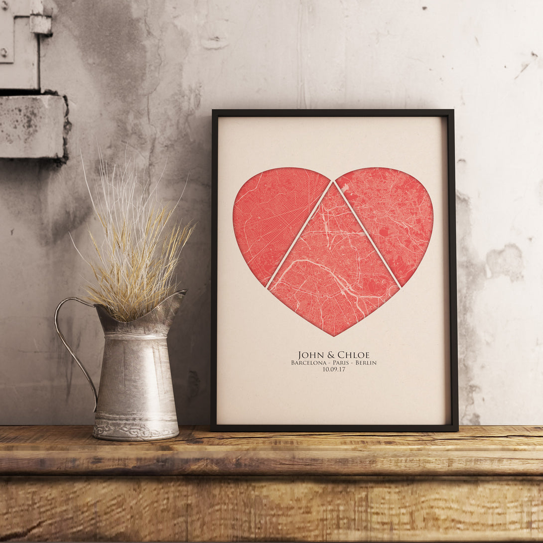 framed heart print