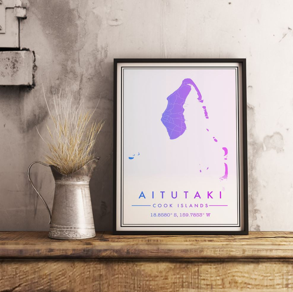 Custom Map Art. Modern Style. Personalised Map Print.