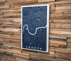 Canvas Print. Minimalism Style. Personalised Map Print.
