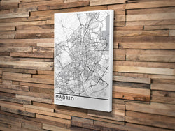 Canvas Print. Classic Minimalism Style. Personalized Map Print.