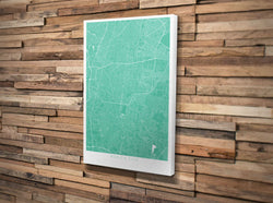 Canvas Print. Minimal Polaroid Style. Personalised Map Print.