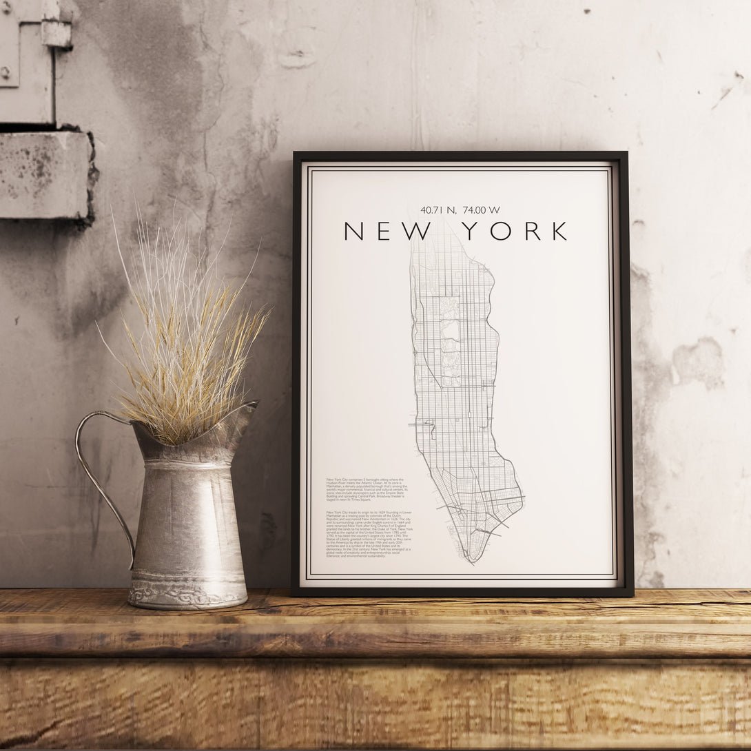 Custom Map Art. Classic Style. Personalised Map Print.