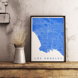 Los Angeles Map Art. Customisable Map Art