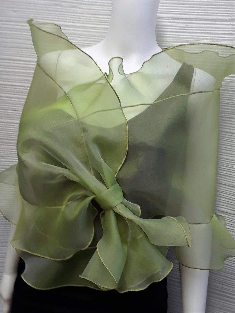 Sheer Organza Evening Wrap