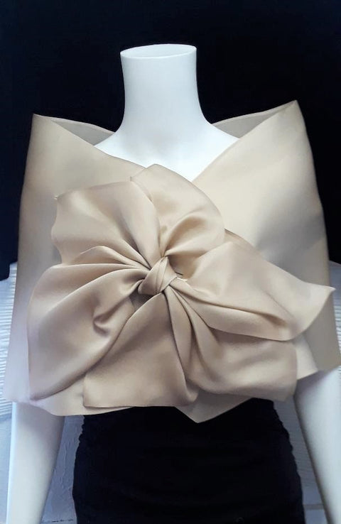 Wrap with Asymmetrical Bow