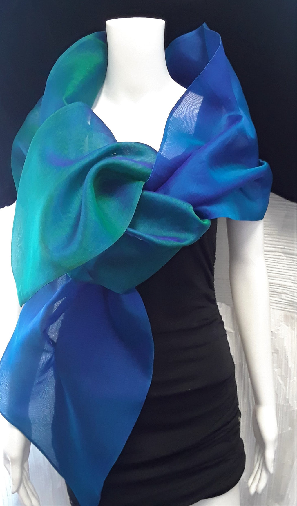 Two Tone Organza Wrap