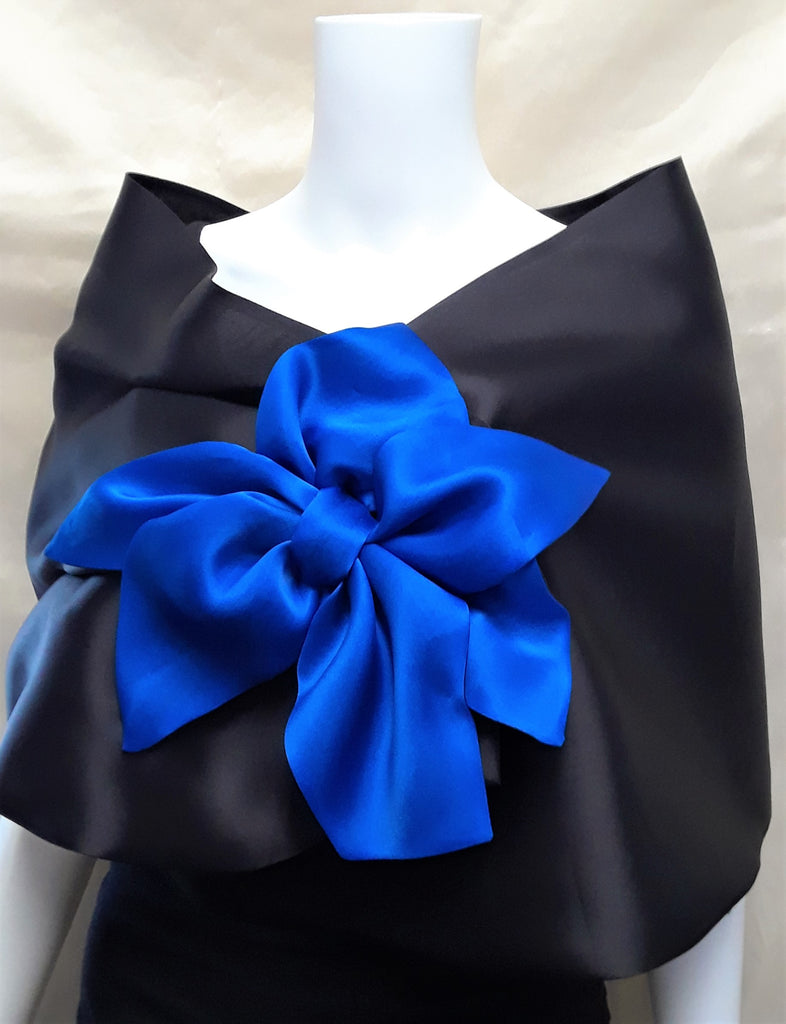 Silk Wrap with Bow
