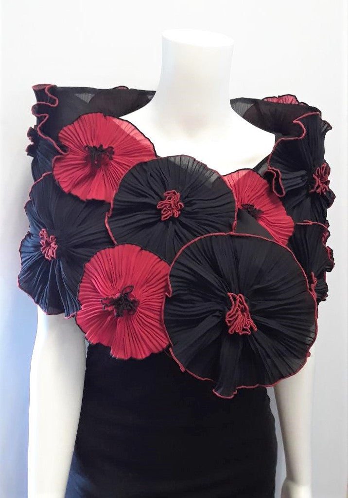 Pleated Flower Wrap