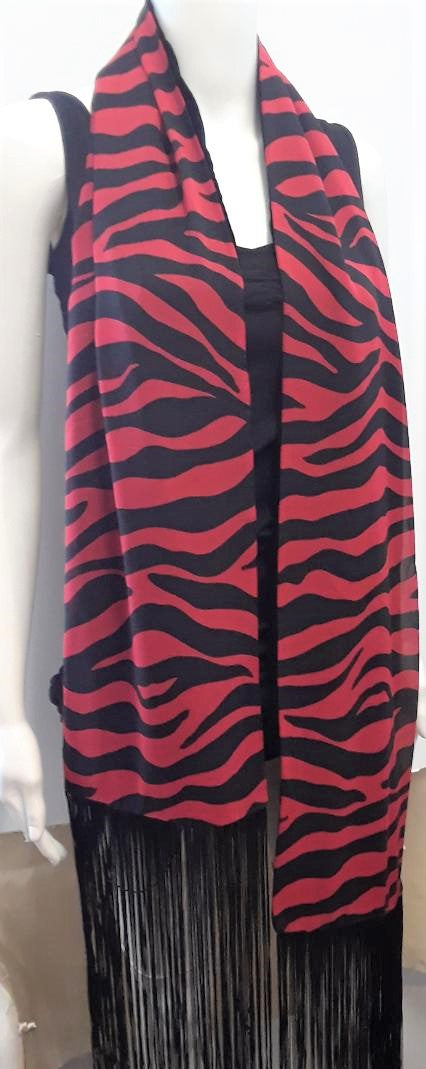 Zebra Striped Scarf