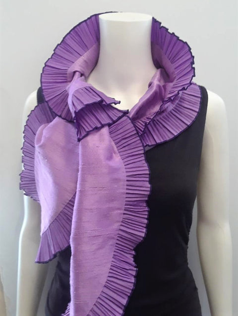 Scarf with Pleated Ruffle