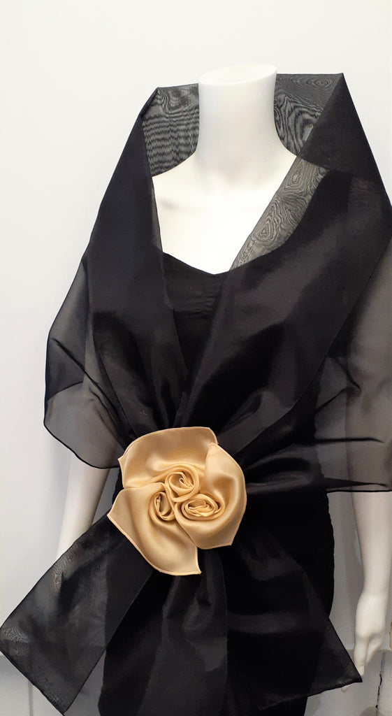 Organza Wrap with Flowers