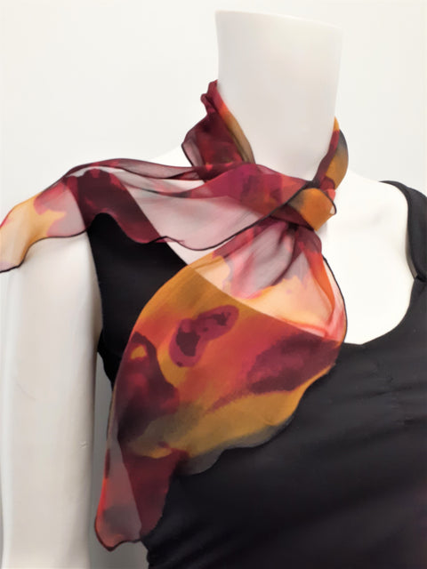 Abstract Chiffon Neckerchief