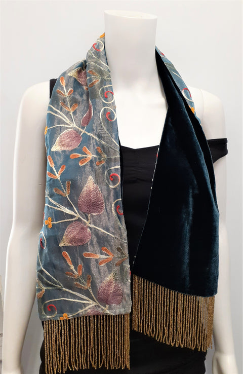 Embroidered Organza Muffler