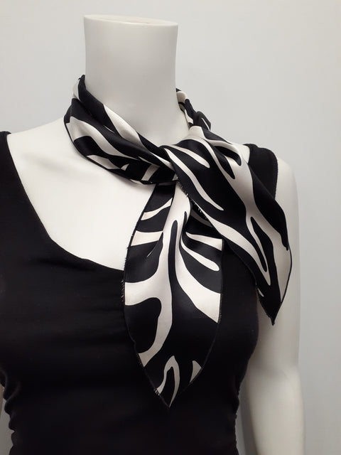 Charmeuse Tiger Stripe Neckerchief