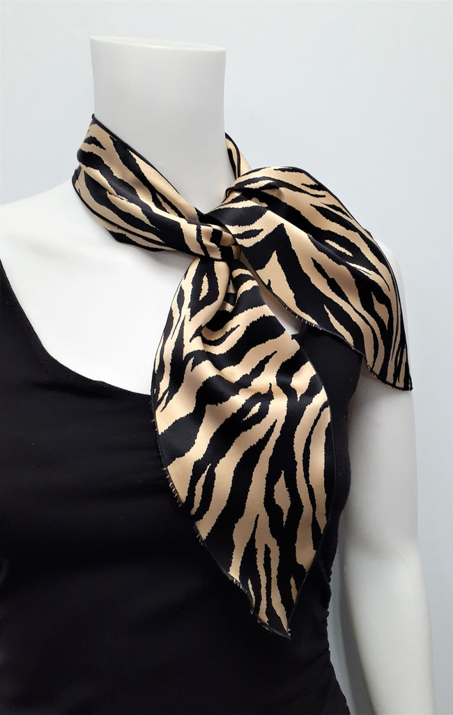 Beige and Black Neckerchief