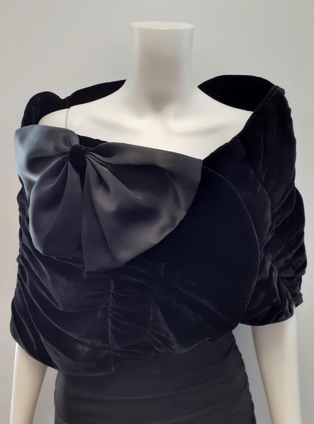 Ruched Velvet with Silk Bow