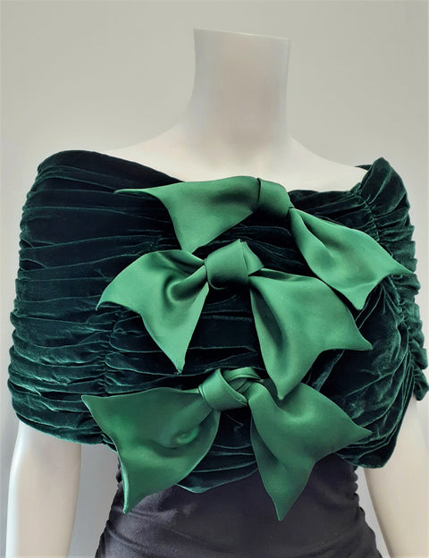 Velvet Wrap with Bows