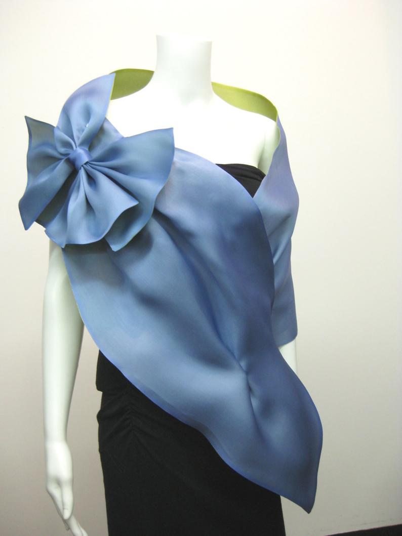 Evening Wrap with Shoulder Bow