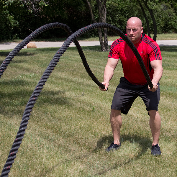 Battling Rope, 1.5In Diameter, 30Ft Length - External Strength