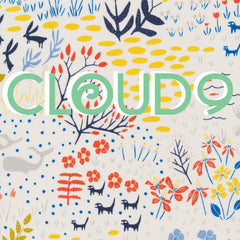 Designer fabric by Cloud 9. Get your designer fabric here at Spindle and Rose.