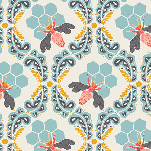 Honeycomb Bumble Bee material from Art Gallery Fabrics - view 1