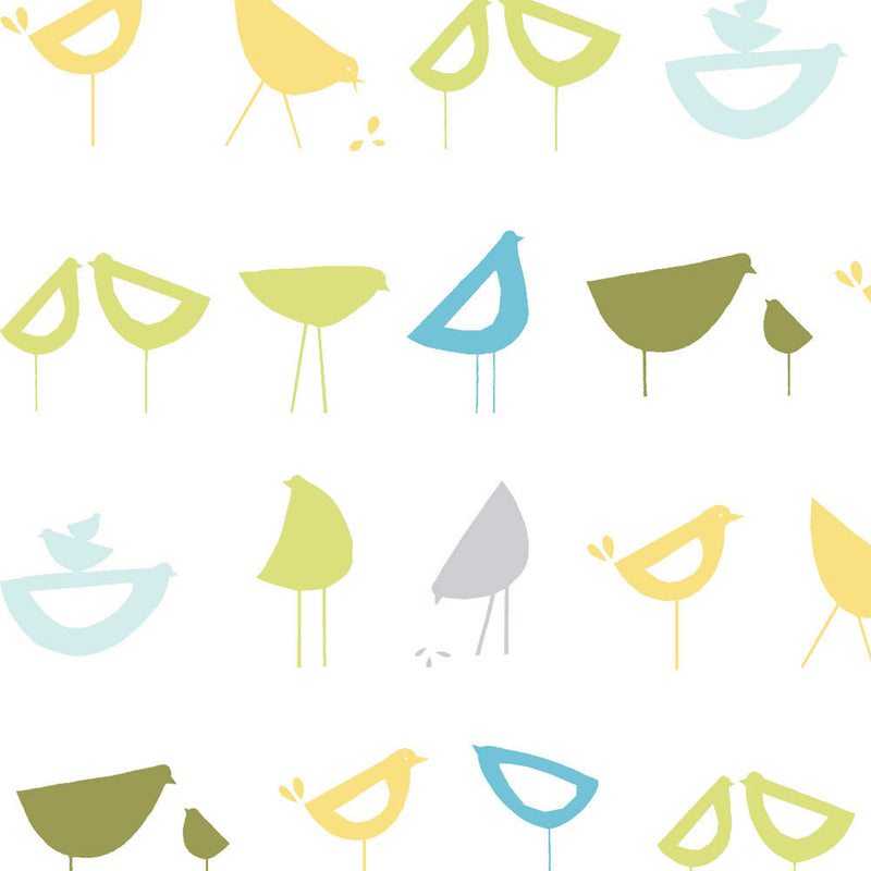 Geometric bird print for nursery decor and clothing from Monaluna Organic Fabrics - view 1
