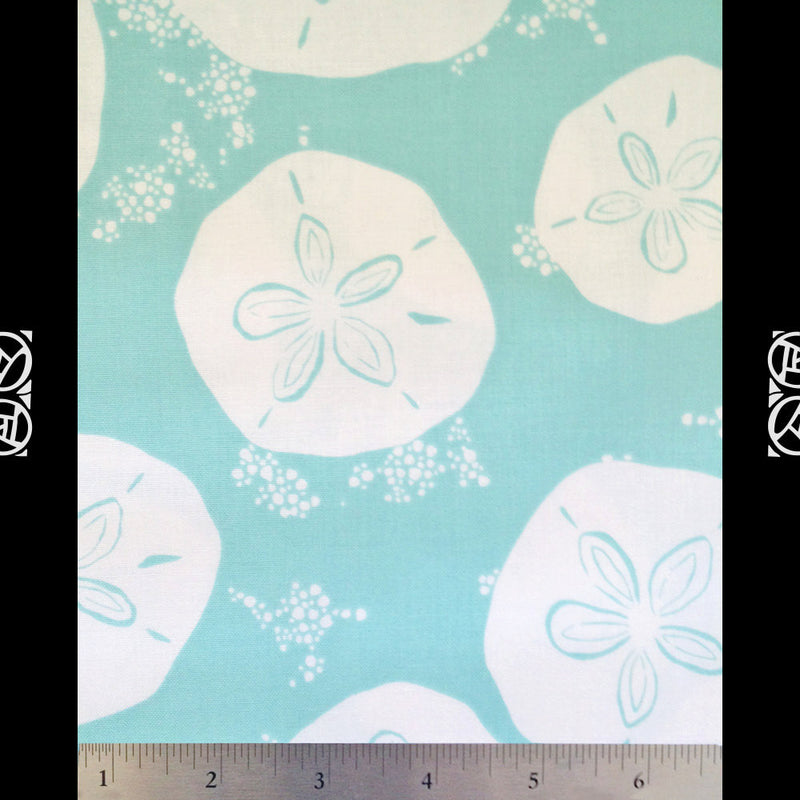 White sand dollars on blue cotton from Art Gallery Fabrics - view 3