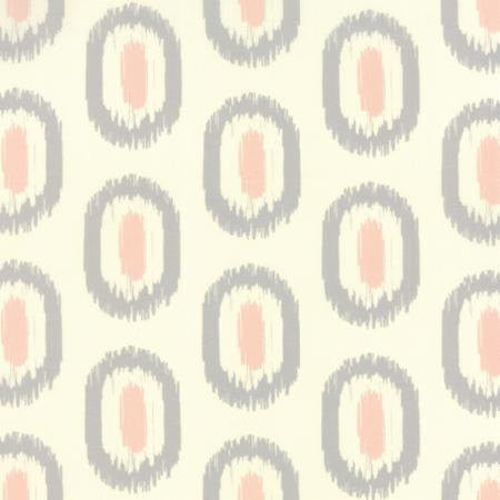 Pink and gray ovals on white cotton from Moda Fabrics - view 1
