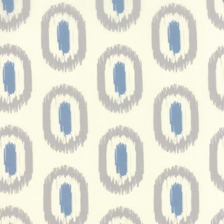 Blue and gray ovals on white cotton from Moda Fabrics - view 1