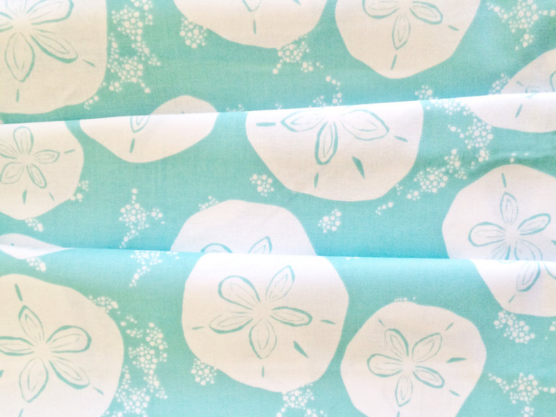 White sand dollars on blue cotton from Art Gallery Fabrics - view 2