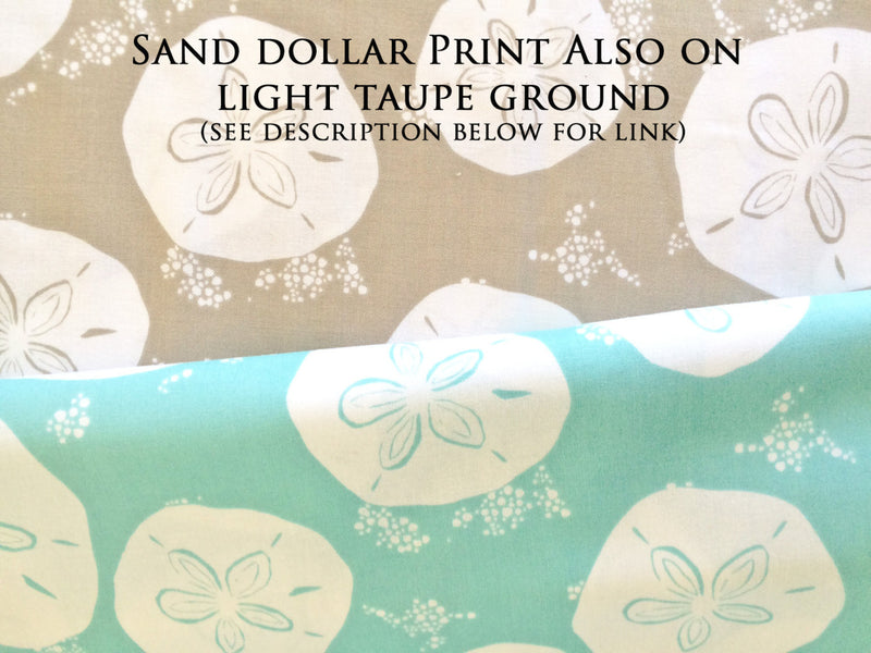 White sand dollars on blue cotton from Art Gallery Fabrics - view 4