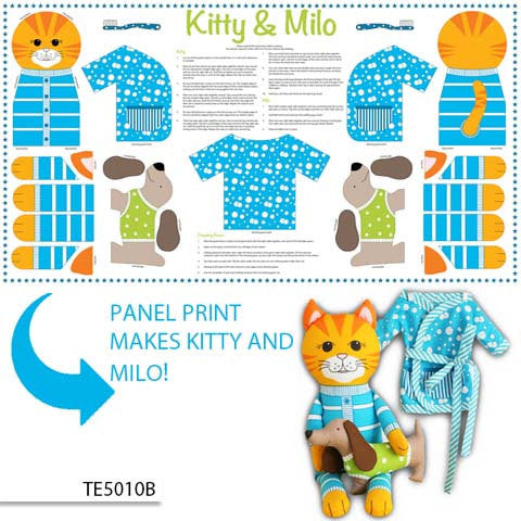 Instructions to create your own cat doll from Ella Blue Fabrics - view 1