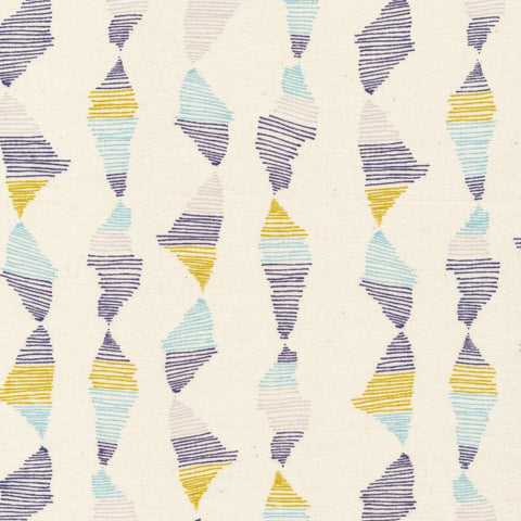 Striped Fabric | Blue Stripes | Yellow | Organic Fabric | Cloud9 | White | Unique | Modern Print