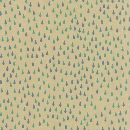 Raindrops on white cotton from Moda Fabrics - view 1