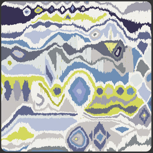 Modern design on purple and white cotton from Art Gallery Fabrics - view 1
