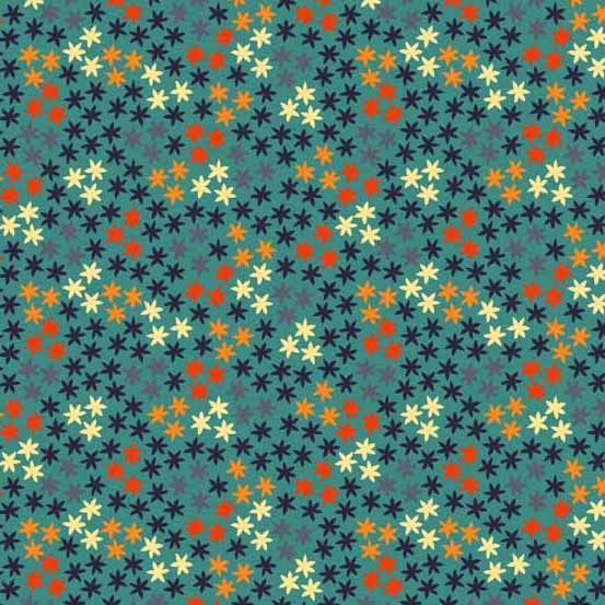 Little stars on blue cotton from Andover Fabrics - view 1