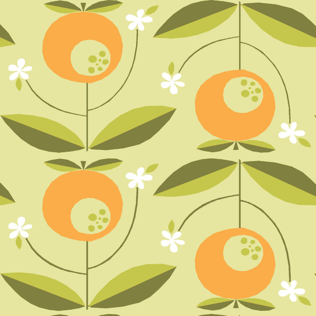 Fun fruit print from Monaluna Organic Fabric - view 1
