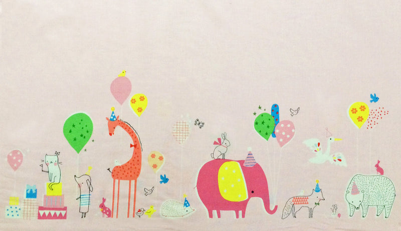 Cute pink circus animal print from Blend Fabrics - view 1