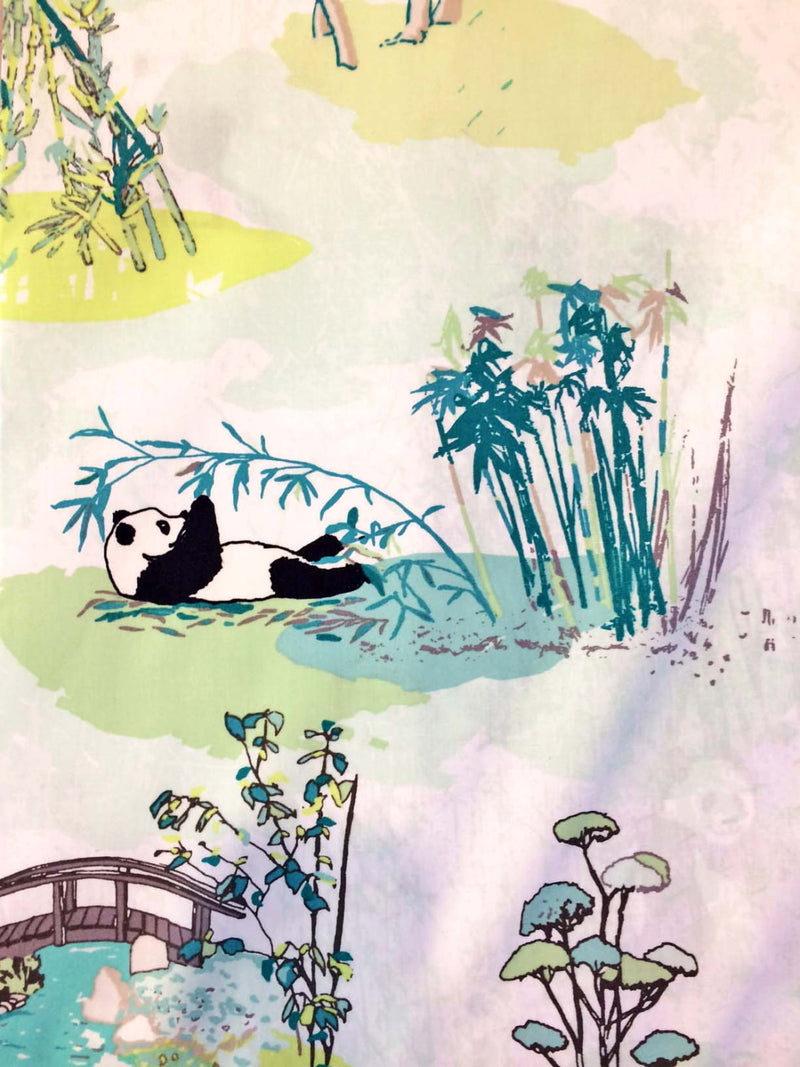 Panda on white cotton from Art Gallery Fabrics - view 3