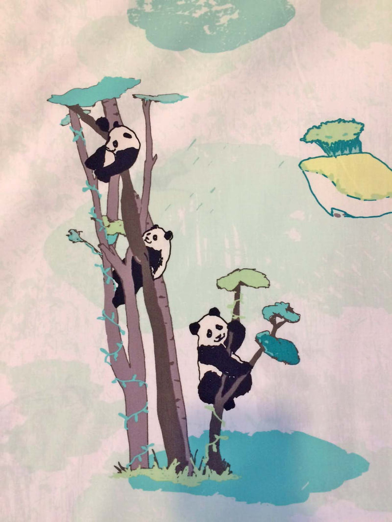 Panda on white cotton from Art Gallery Fabrics - view 4
