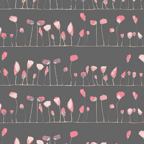 Pretty black and pink petals from Art Gallery Fabrics - view 1