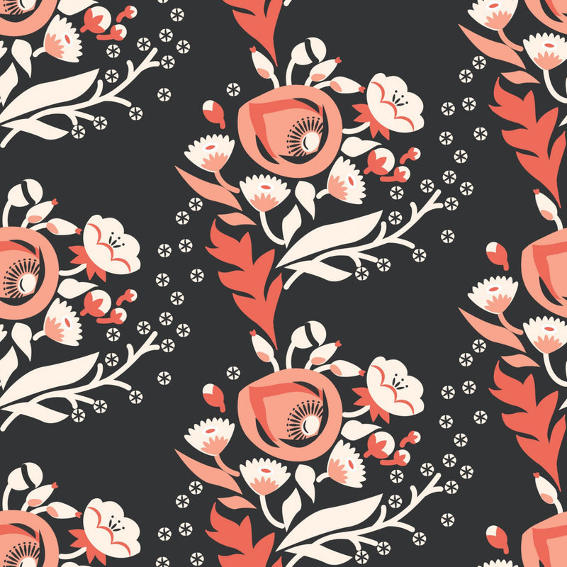 Retro roses on organic cotton from Cloud 9 Fabrics - view 1